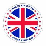 Viltjes met Engeland vlag opdruk