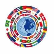 Viltjes met Internationaal vlag opdruk