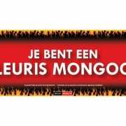 SD sticker Je bent een pleuris mongool