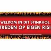 SD sticker Welkom in dit stinkhol, betreden op eigen risico
