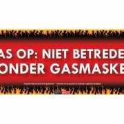 SD sticker Pas op  niet betreden zonder gasmasker