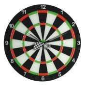 Muurklok in de vorm van dartbord