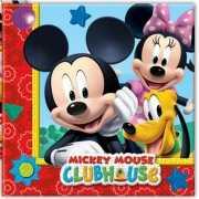 Kinderfeestje servetten Mickey Mouse 20 stuks