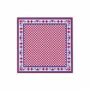 Rode zakdoeken met boerenprint