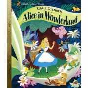 Gouden Disney boekje alice in Wonderland