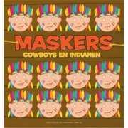 Indianen tekenmaskers 10 stuks