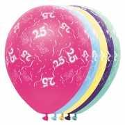 Gekleurde helium ballonnen 25 jaar