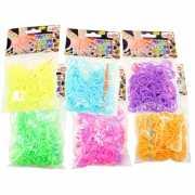 Loom bandjes maken 300 pastel elastiekjes
