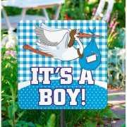 Tuinbord decoratie geboorte jongens