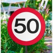Tuin verkeersbord 50 jaar