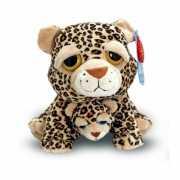 Knuffeldier Cheetah met baby 25 cm
