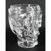 Drinkbeker zilveren schedel 22 cm