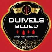 Flessenetiket duivels bloed