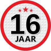 Stopbord sticker 16 jaar