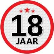 Stopbord sticker 18 jaar