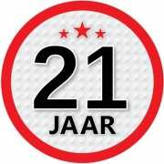 Stopbord sticker 21 jaar