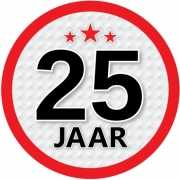 Stopbord sticker 25 jaar