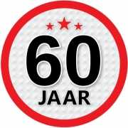 Stopbord sticker 60 jaar