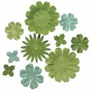 Gemengde groene hobby bloemen van papier