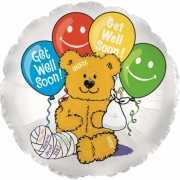 Beterschap folie ballon met beren afbeelding