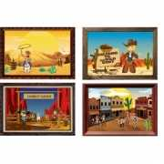 Western thema muurdecoratie set