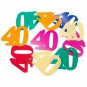 Gekleurde mega confetti 40 jaar