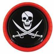 Kartonnen piraat bordjes 8 stuks