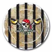 Piraten feest bordjes 8x