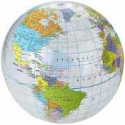 Opblaasbare strandbal globe