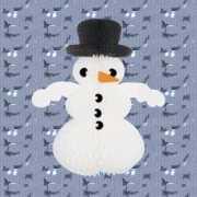 Witte papieren sneeuwpop