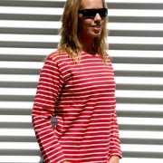 Dames shirt lange mouw met bretonse streep