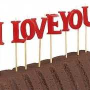 Cake versiering i love you