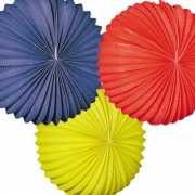 Blauwe gele en rode lampionnen 22 cm