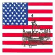 Amerikaanse vlag servetten
