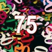 75 Jaar gekleurde confetti