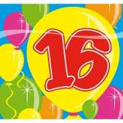 Verjaardags servetten 16 jaar