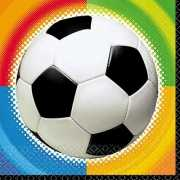 Feest voetbal servetten 25 cm