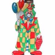 Clown met ballonnen wanddecoratie