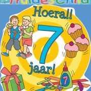 Kleurrijk huldebord 7 jaar