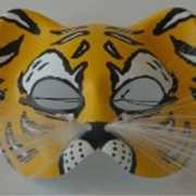Bengaalse tijger masker van plastic