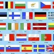 Europese unie vlaggen pakket