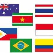 Tropische landen vlaggen pakket