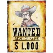 Wanted western plakaat