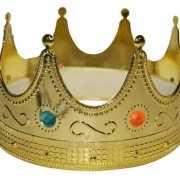 Gouden luxe koningskroon