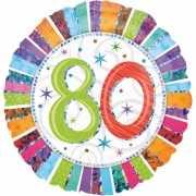 Folie ballon 80 jaar 45 cm
