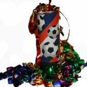 Voetbal party popper mini