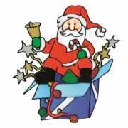 3x kerstman versiering voor raam