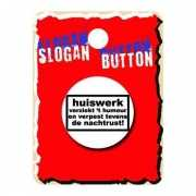 Fun tekst button huiswerk