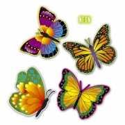 Vlinders versiering 4 stuks