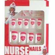 Verpleegster nepnagel setje